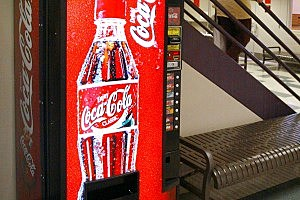 Police Say Man Was Touching Self by Soda Machine