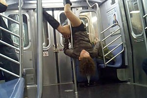 Subway Pole Dancing Is Becoming a Trend